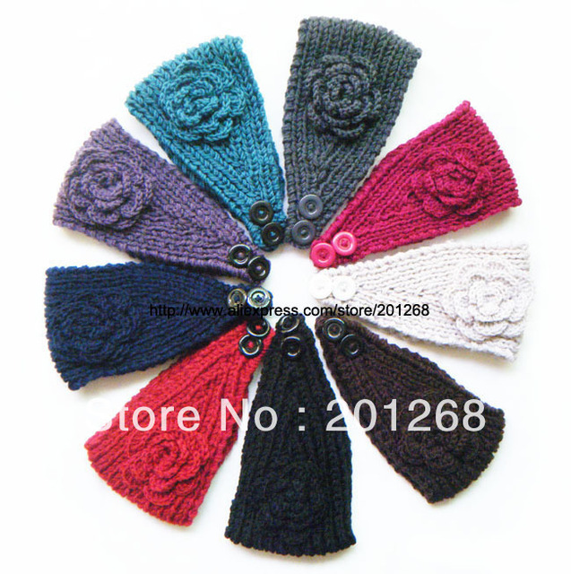Crochet Headwrap Head wrap Headbands for women flower head wrap Mixed color
