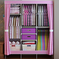 Steel folding cloth wardrobe simple cloth assembled large capacity drawer storage closet in the large double closet