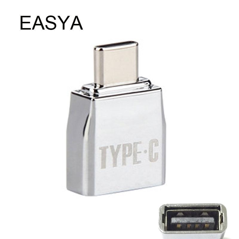 EASYA OTG USB 3.1 Type C Hub Adapter Male USB-C to Female USB 2.0/Micro USB for Macbook Pro Type-c interface Use micro usb to type c adapter micro usb otg type c to micro usb