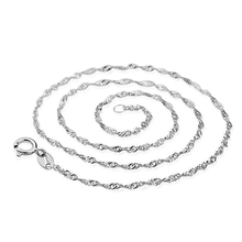 silver chain wholesale joker clavicle chain ripple chain 1.5 mm female manufacturers selling in Europe and the necklace