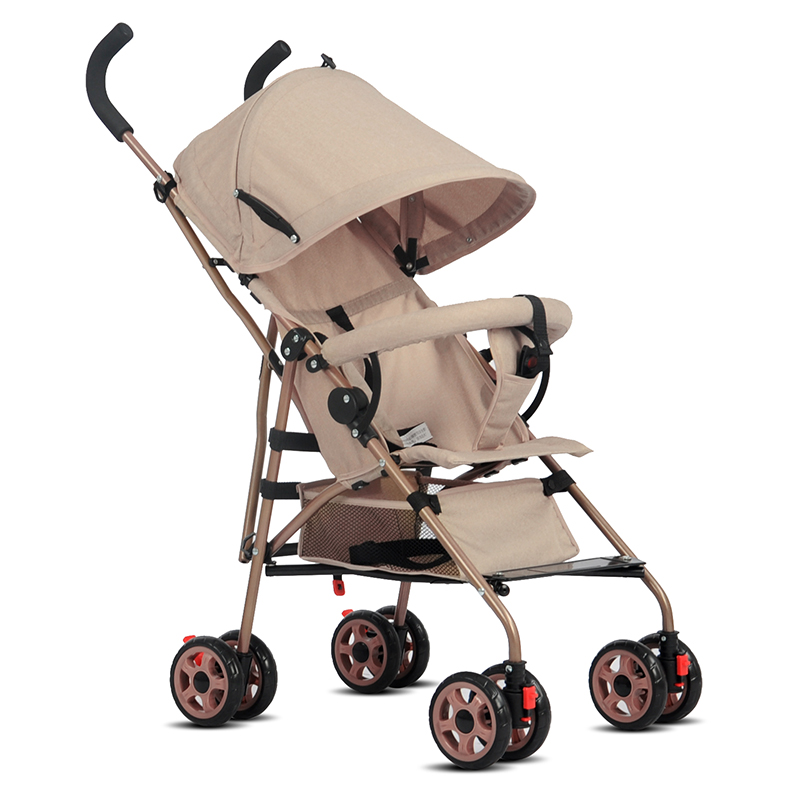 Super Portable Four Colors Baby Cheap Stroller Smoothly Baby Carriage Pram Umbrella Sunshade Foldable Baby Stroller Four Wheels