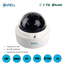 zk18 Sunell IP66 Waterproof Vandalproof 2MP Starlight IP Network Security Surveillance Camera System with Motion Detection