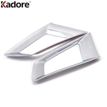 Kadore Car Styling For RENAULT KOLEOS 2008 2009 2010 2011 ABS Chrome Front Grills Grilles Around Cover Racing Grills Trim 2pcs