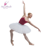 Free Shipping White Practice Ballet Dance Dress Rehearsal Professional Half Tutu