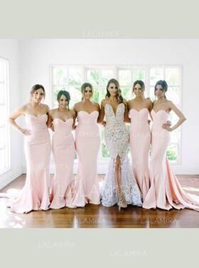 Custom Made 7 Picture Bridesmaid Dresses For Customer Material Satin