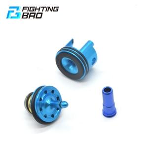 Image 2 - Tête de Piston de combat 8 trous tête de cylindre de buse dair silencieux pour Ver.2 M4 Airsoft AEG boîte de vitesses en Gel fendu Jinming8 Jinming9