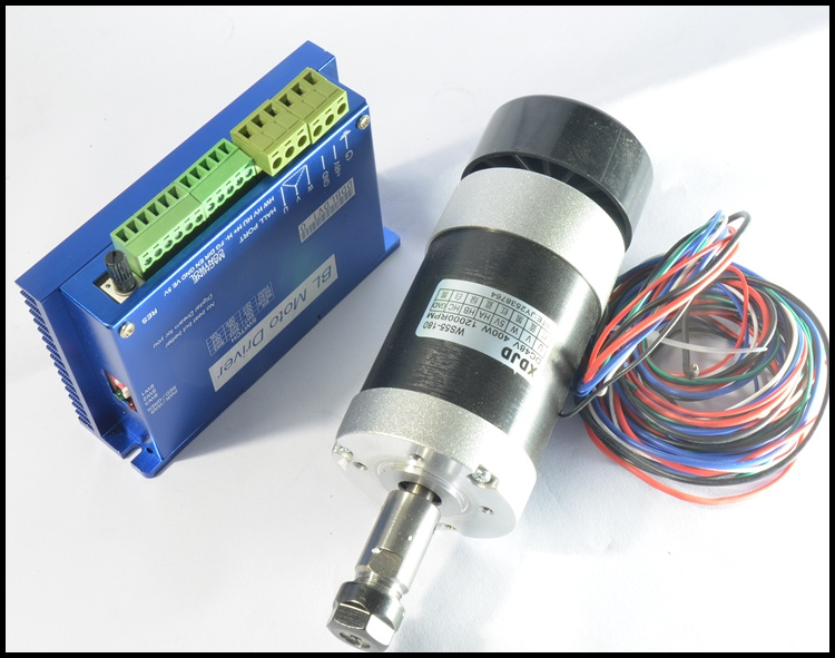 600w cnc brushless dc motor driver 400w spindle motor for Brushless dc motor suppliers