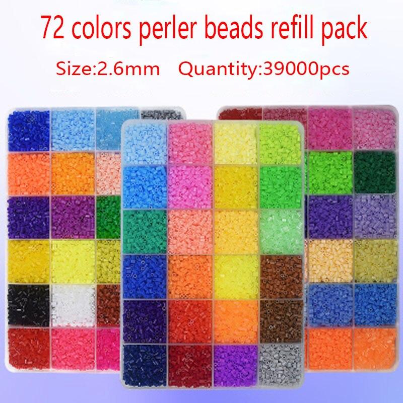 39000 pièces/ensemble 2.6 MM hama perles perler perles Puzzles Oyuncak Perlen jeux de Puzzle en plastique enfants jouets éducatifs enfants