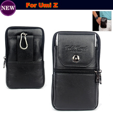 Original Genuine Leather zipper pouch Belt Clip Waist Purse Case Cover for Umi Z Mobile Phone Bag Free Shipping