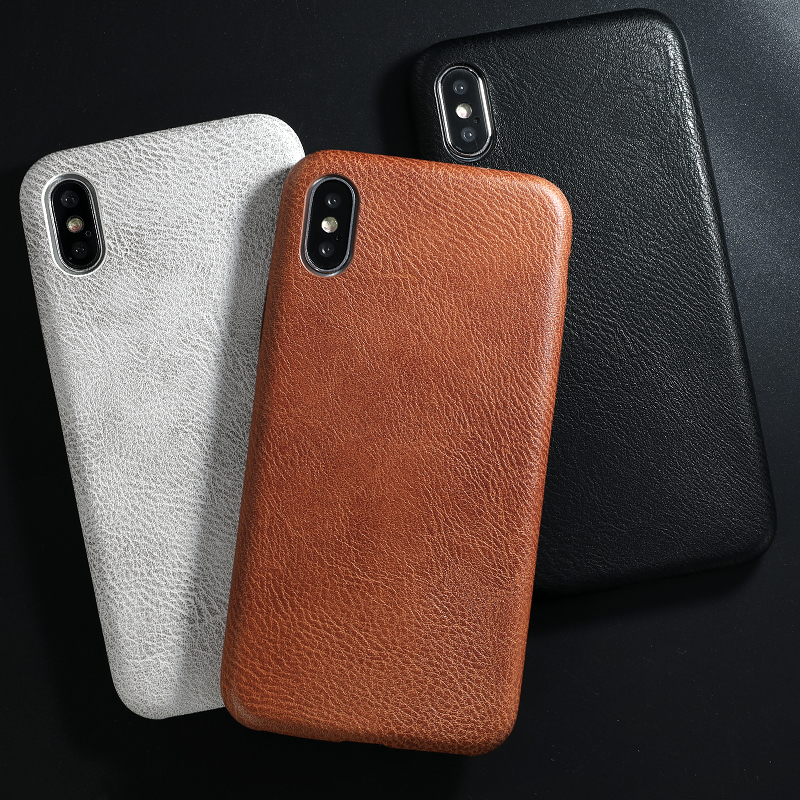 PU Leather Pattern Phone Case for iphone 6 6s 7 8 plus Case Back Cover For iphone X xs max XR Case (2)