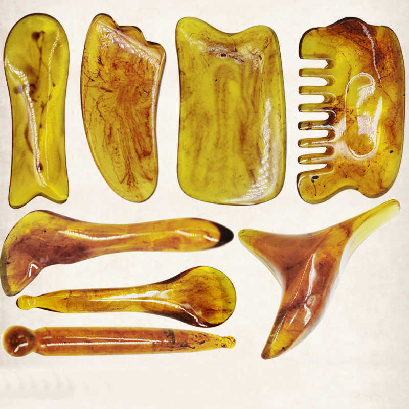Detail Feedback Questions about Natural Resin Amber Gua Sha