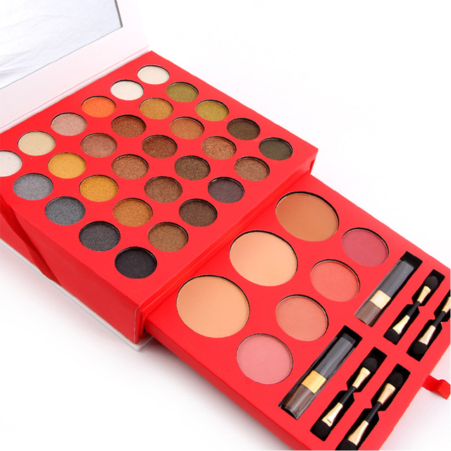 New Arrival Professional Makeup Set Pro 60 Full Color Eyeshadow 3 Blusher 4 eyebrow powder Palette Kit Eye Shadow Cosmetics