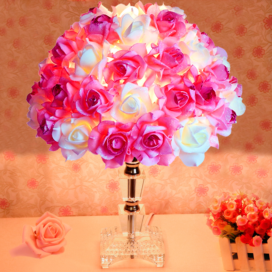 Creative Wedding Gifts For Friends : style romantic roses desk lamp/ Creative wedding gift for friends ...