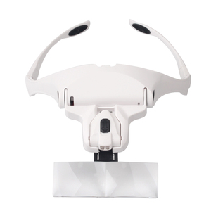 Image 1 - 5 Lens Adjustable Headband Magnifying Glass With LED Light for Eyelash Extension,Magnifier Lamp for Eyelashes