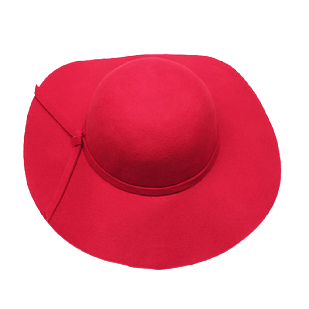 40fe9abede278f SAF 2016 NEW Stylish Kids Girls Retro Felt Bowler Floppy Cap Cloche Hat-red