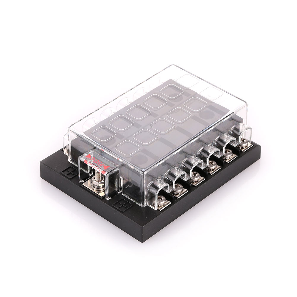Vehemo Car Vehicle Auto Internal Circuits Fuse Box Case Mount Holder 12 Way 1x Multi 12way Without Light Label Sticker