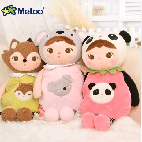 Cartoon School Bags Kids Doll Plush Toy Satchel Children Shoulder Bag for Kindergarten Angela Rabbit Girl Backpack Metoo Doll