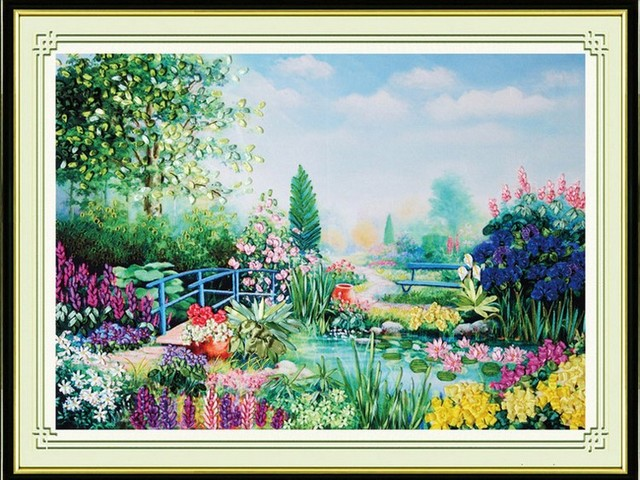 3d Flower Garden Ribbon Embroidery Spring Europe Painting Set Big