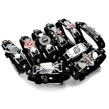 Attack on Titan Naruto Konoha Naruto Sharingan One Piece Black Butler Fairy Tail Death Note Bleach bracelet