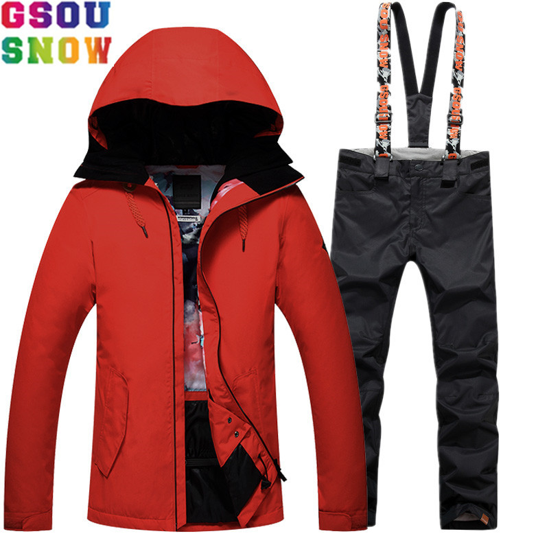GSOU SNOW Brand Ski Suit Women Snowboard Jacket Pants Winter Sets Skiing Suit Waterproof Windproof Outdoor Female Ski Clothing gsou snow brand ski suit women ski jacket pants waterproof snowboard jacket pants winter outdoor skiing snowboarding sport coat