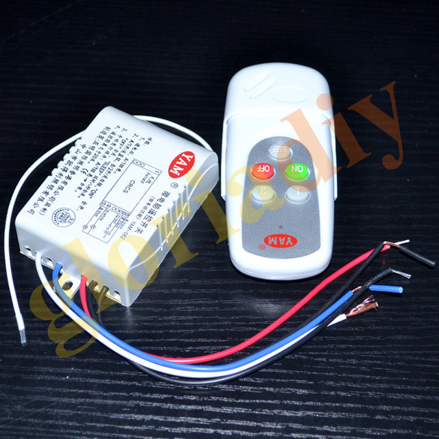 5pcs/lot 220V Wireless Two Way Light Lamp Digital intelligent Remote ...