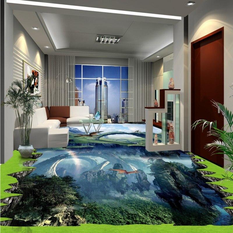 где купить Free shipping custom Outdoor 3D flooring stickers moisture proof self-adhesive waterproof living room kitchen wallpaper floor по лучшей цене