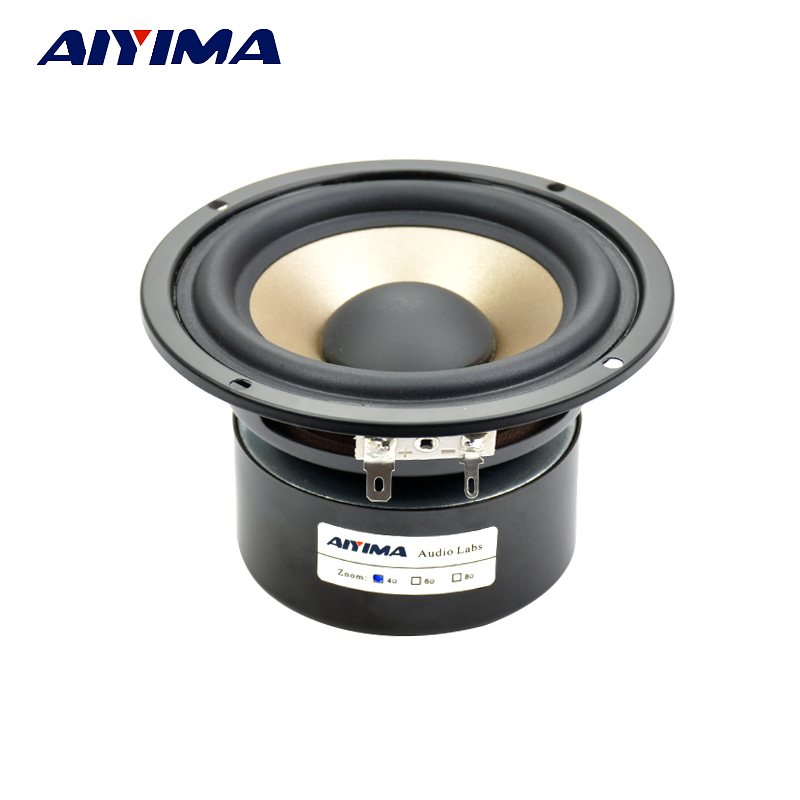 1Pc 4Inch Audio Portable Speaker 4Ohm 30W Hifi Bass Speaker Subwoofer Double Magnetic Bass Speakers For Home Theater