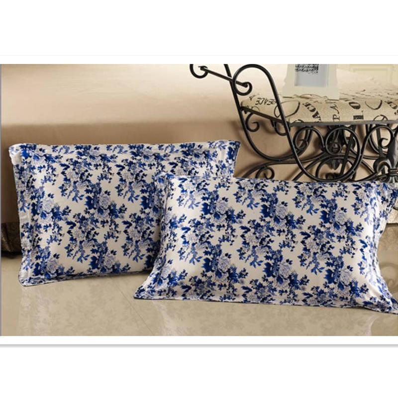 New Free Shipping 100 Pure Silk Oxford Pillowcase Floral