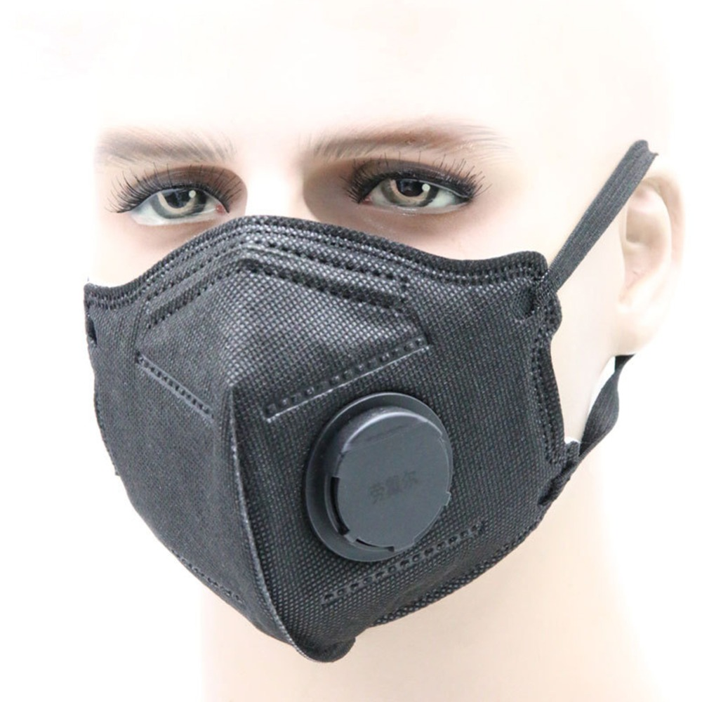 Anti-haze Mouth Masks With Valve Washable Replaceable Filter Activated Carbon Folding Dust Mask Safety Mask