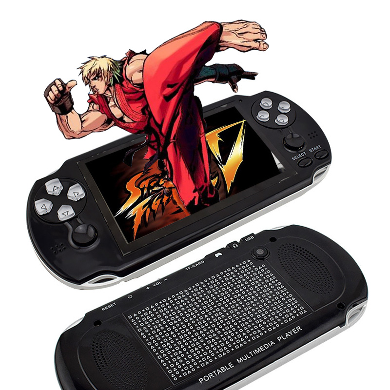 4.3 inch HD TFT 4GB Handheld Game Consoles Portable 64 Bit Mini Video Games Players Support TV Out MP3 MP4 MP5 Camera E-Book