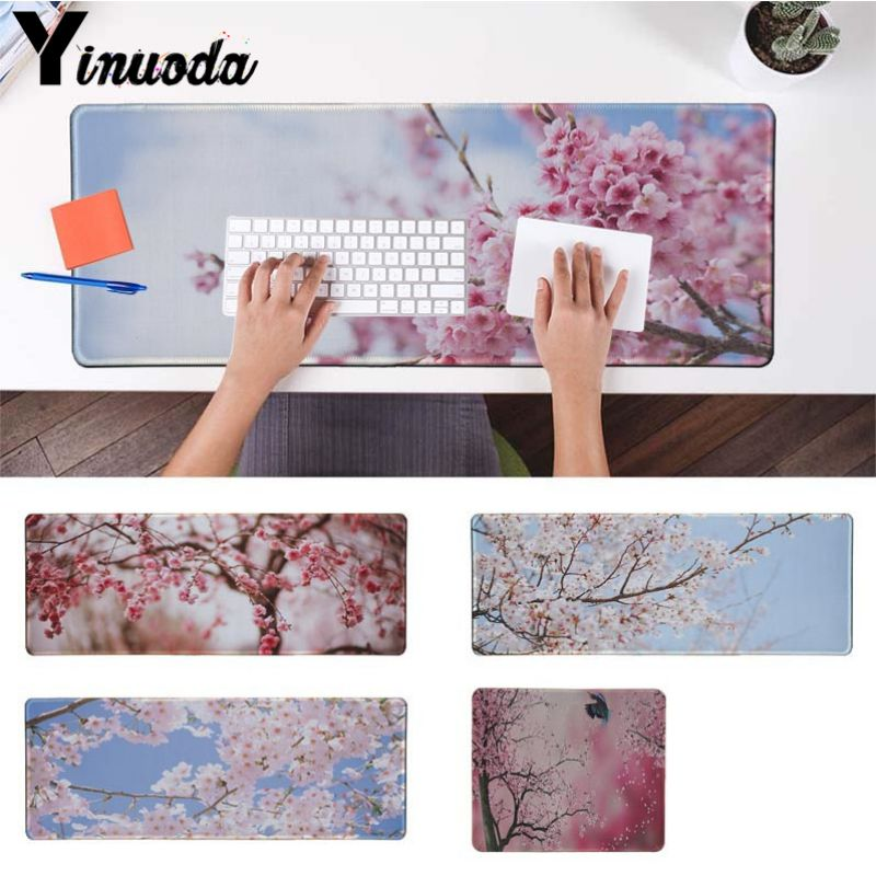 Yinuoda Your Mats Cherry blossoms High Speed New Mousepad Size for 18x22cm 20x25cm 25x29cm 30x90cm 40x90cm Computer Keyboard Mat