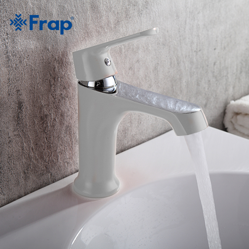 FRAP white bathroom fixture brass faucets toilet water basin sink tap colored bathroom sink faucet water mixer F1031/1032/1033