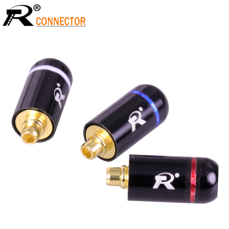 2Pcs/1Pair Black Silver 3.5mm Earphone DIY Pin Connector Plug For MMCX UE900 SE535 SE215 W10 W20 W30