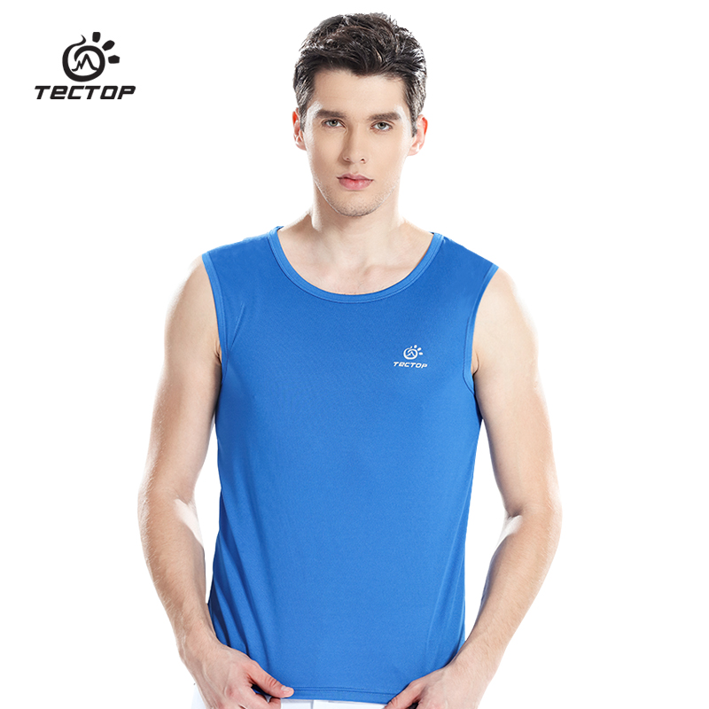 2017 Top Quality Breathable Athletic Slim Fitted Men Outdoor Vest Male Training Running GYM Sexy Camping Hiking Sports Top T3069