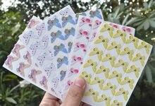 Adesivos de canto de fotos desenhos animados, adesivos bonitos para diy para álbum de fotos bebê ou álbum de recortes 24 peças folha de folha