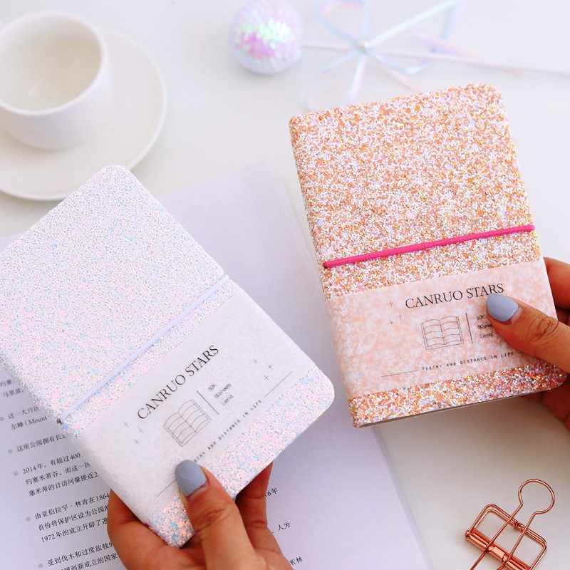 quot BlingBling quot Pocket Diary Lined Papers Notebook Beautiful Journal Girls Gift Small Notepad in Notebooks from Office amp School Supplies