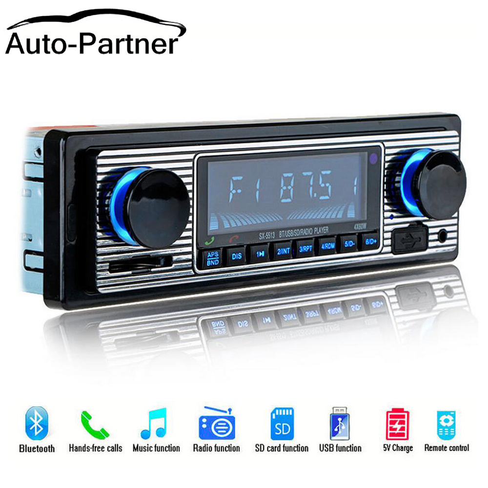 NEW 12V Car Radio Player Bluetooth Stereo FM MP3 USB SD AUX Audio Auto  Electronics autoradio 1 DIN