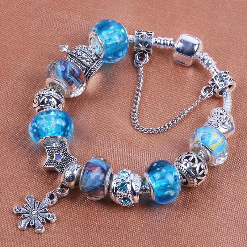 Snowflake Charm Bracelet: AIFEILI Fashion Jewelry Snowflake Charm Bracelets
