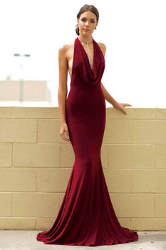 Mermaid V-neck Evening Gown 2019 Sexy Formal Party prom Dress Court Train Beauty Dress Gown Tailored