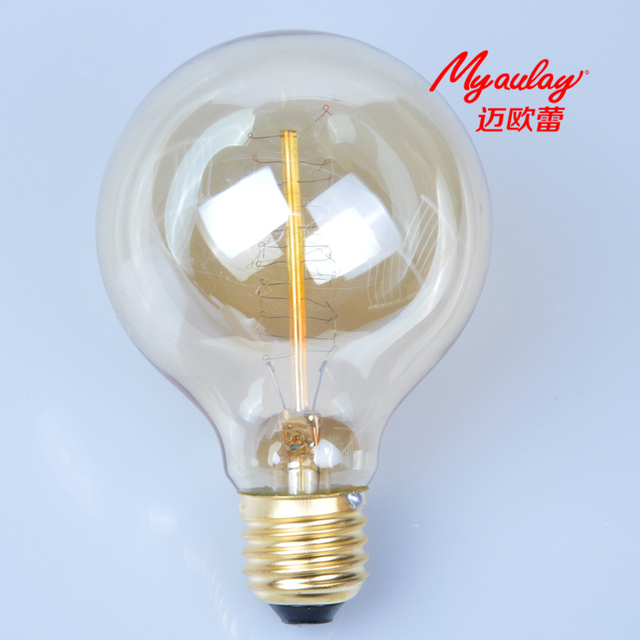incandescent bulb edison design G80 S/40W tungsten wire light bulb ...