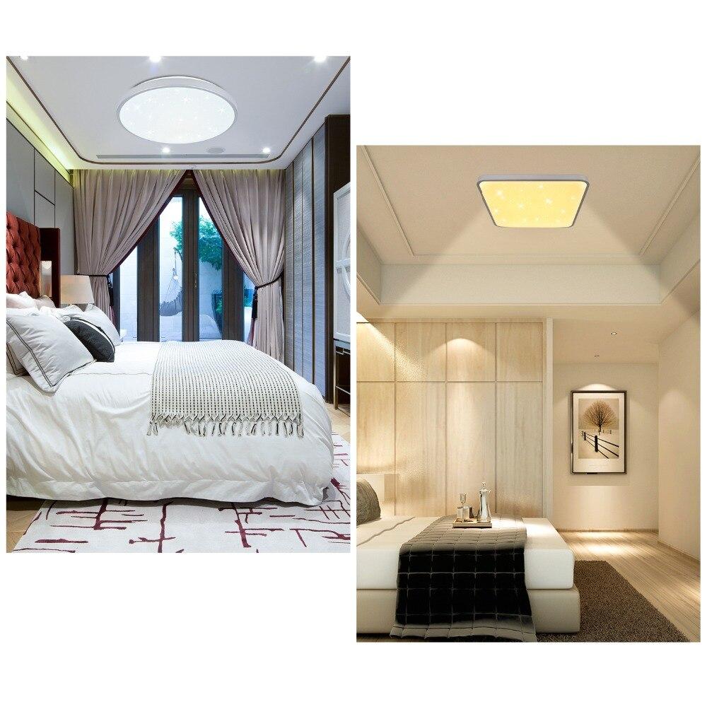 Dimmable 50 w 60 w Moderne LED Plafonnier Rond Carré Forme Étoilée Ciel Effet Éclairage Intérieur Luminaire Cuisine Chambre foyer