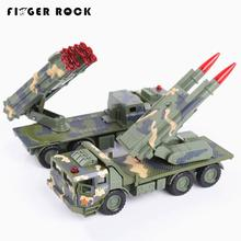 Finger Rock Mini Missle Launcher Launch Vehicle Military Display Model Diecast Metal Car Sound And Music Alloy Car Toys