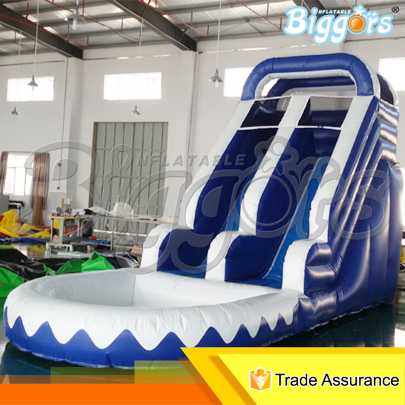 Blower Included Inflatable Slide With Water Pool Giant Inflatable Slide On Hot Selling factory price giant big inflatable water slide with pool game on sale