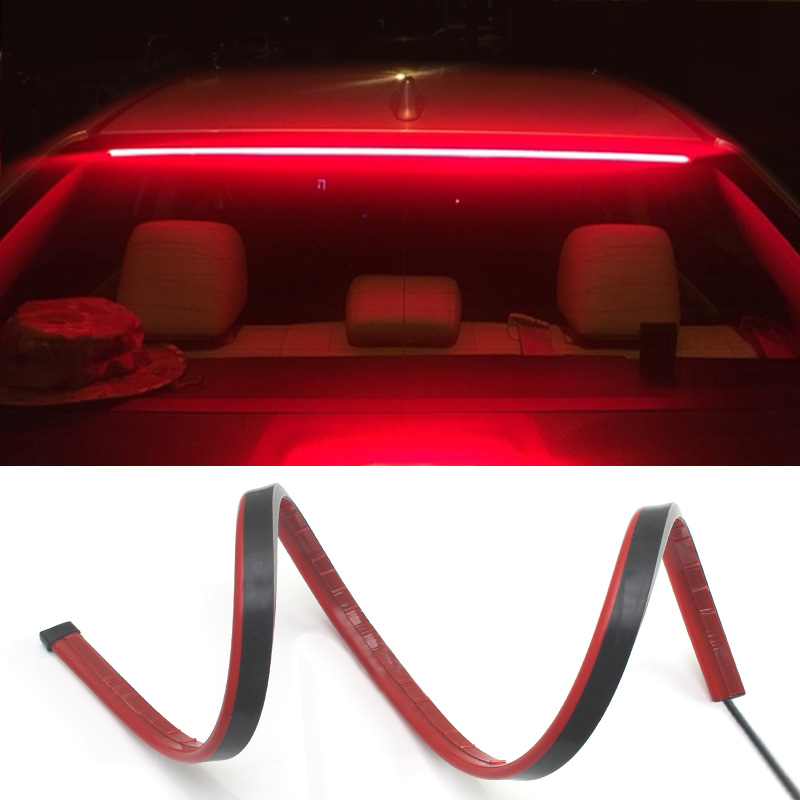 Waterproof Car <font><b>LED</b></font> Light Strip DC <font><b>12V</b></font> <font><b>Red</b></font> 3014 SMD High Additional Brake Lights with Sequential Turn Signal Lamp image