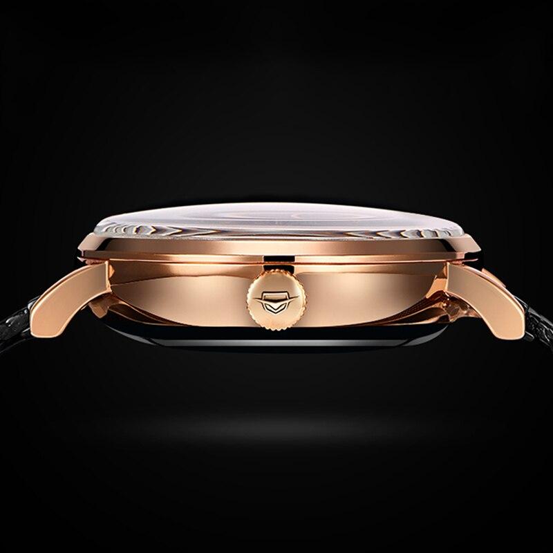 2019 nuevo reloj automático AILANG reloj mecánico para hombre relojes de turbillon impermeables luminosos Steampunk de lujo reloj masculino - 5