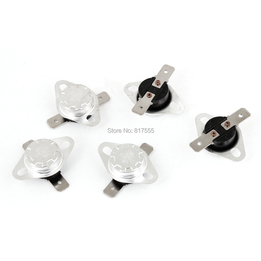 5 Pieces KSD301 180 Celsius 356F Normal Close Temperature Controlled Switch Electrical Equipment Supplies Switches Accessories