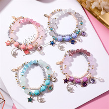 Girl Star Moon Cat Eye Crystal Multilayer Bracelet Female Simple Japan and South Korea Wild Accessories SZ005