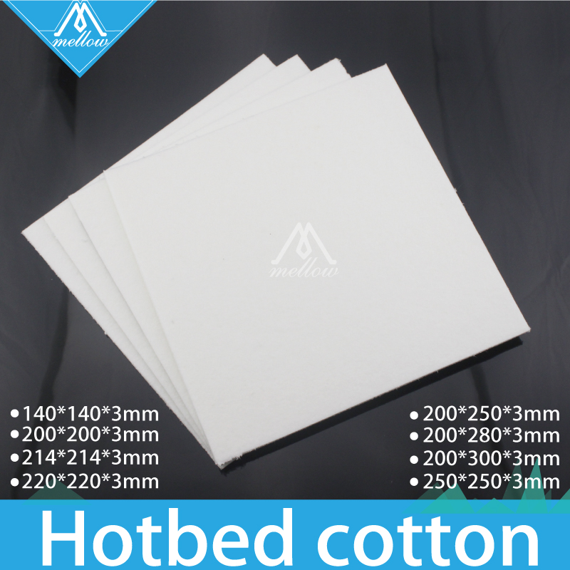 Free shipping 1pcs 3mm thickness 3D Printer Heating Bed Block Insulation Cotton For Reprap Ultimaker Makerbot -250*200*3mm