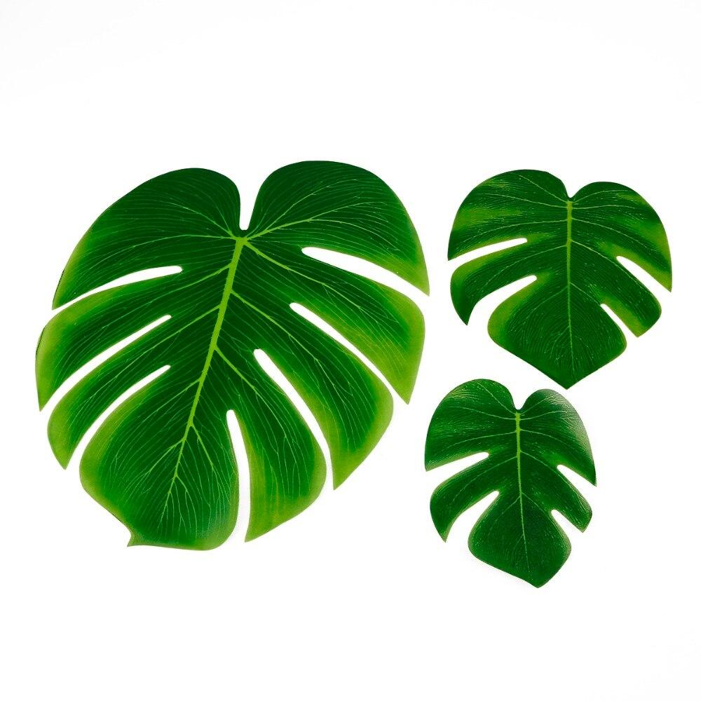 10pcs 12pcs Green Artificial Tropical Palm Leaves Hawaiian Luau Party Jungle Beach Theme Party Decoration Hawaii 3