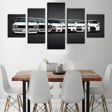 5 Pcs DIY Car Combination Wall Stickers Home Poster Self-adhesive Painting